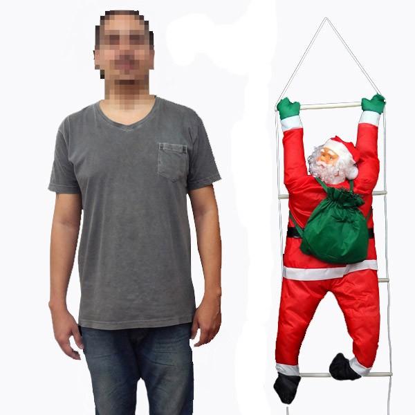 Papai Noel Subindo Escada Natal Decoracao Grande 72cm Altura Natalino (BSL-36041-11)