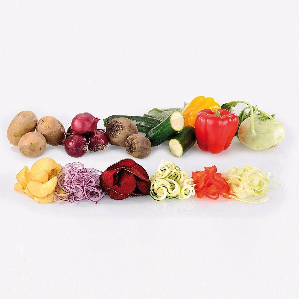 Cortador De Legumes Espiral Verduras Vegetais 4 Laminas Cozinha (MC40752)