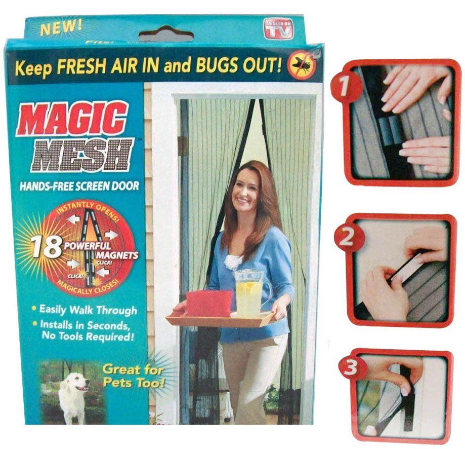 Cortina Mosquiteiro Para Insetos e Mosquitos Com Tela Protetora Magic Mesh (Bsl-mosq-1)