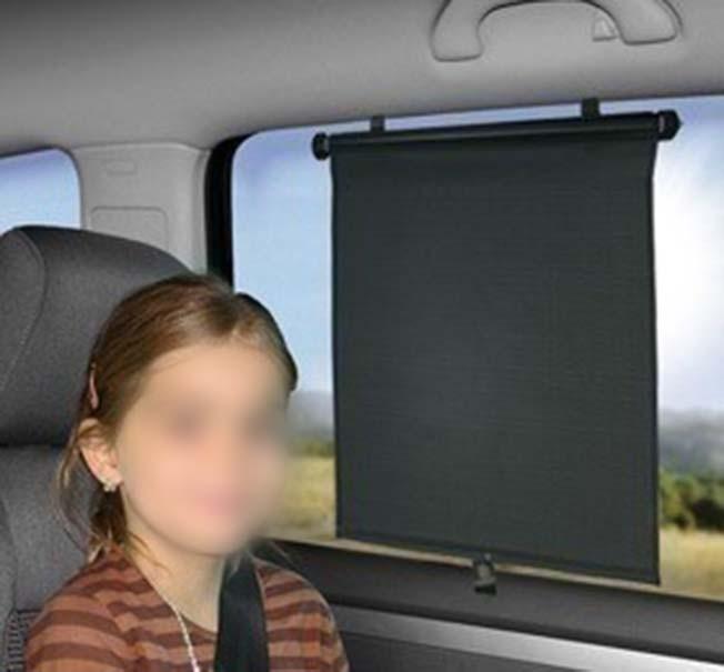 Cortina para Janela de Carro Parasol Retratil Protetor Quebra Sol Vidro Automotivo Kit Com 2 (BSL-45765-3)