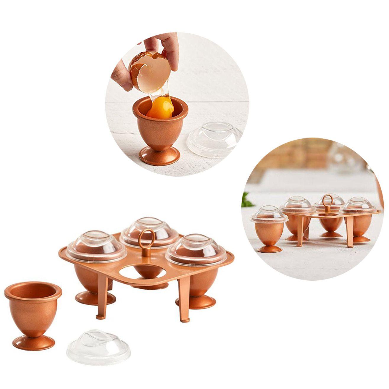 Cozedor Ovos 4 Formas Ceramica Cozido Cozinha Criativa