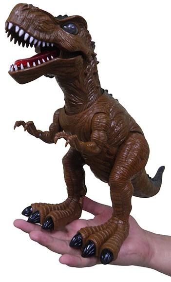 Dinossauro De Brinquedo Tiranossauro Rex Com Luzes E Som Marrom (DMT4725)