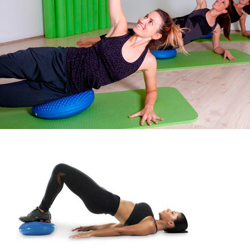 Disco De Equilibrio Pilates Yoga Inflavel Almofada 38 cm Exercicio Fitness Azul