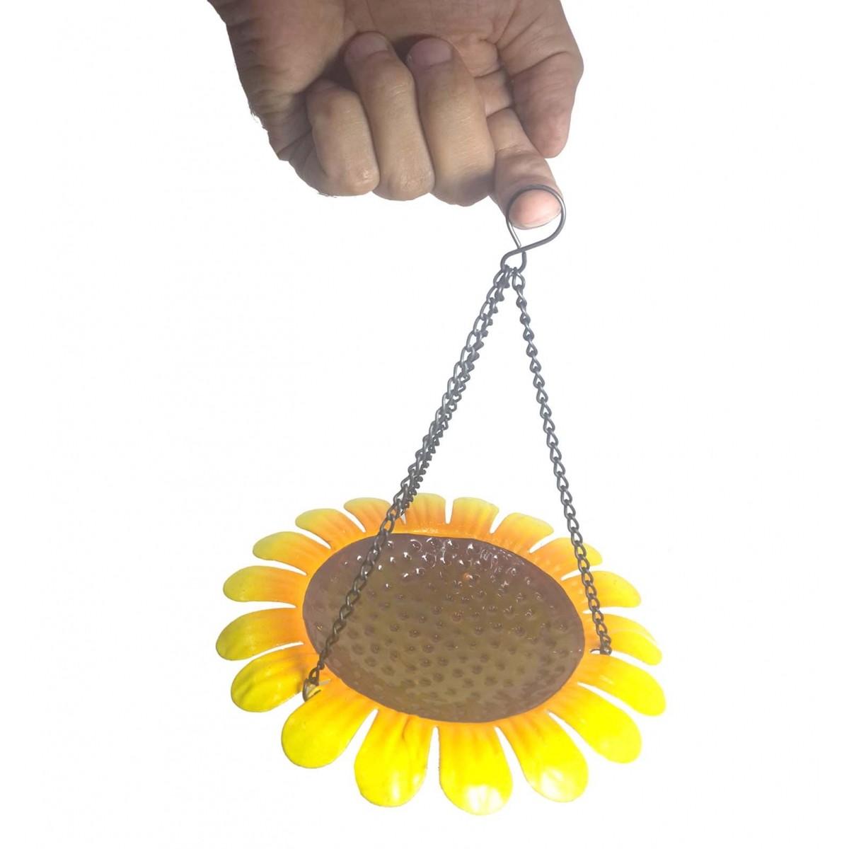 Enfeite de Ferro Para Jardim Varanda Flores Para Pendurar Kit Com 3 (jard-70)