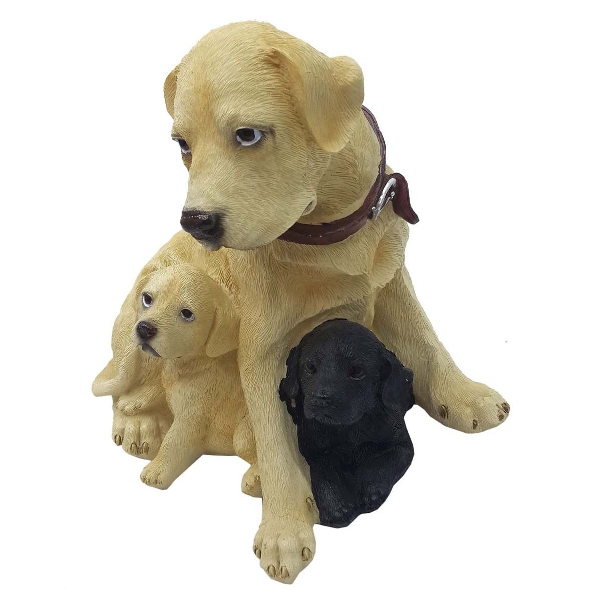Escultura Resina Cachorro Cão Filhote Decorativo 21 Cm