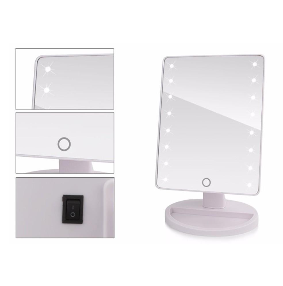 Espelho Led de Mesa Camarim Portatil Articulado Maquiagem Branco (888415)