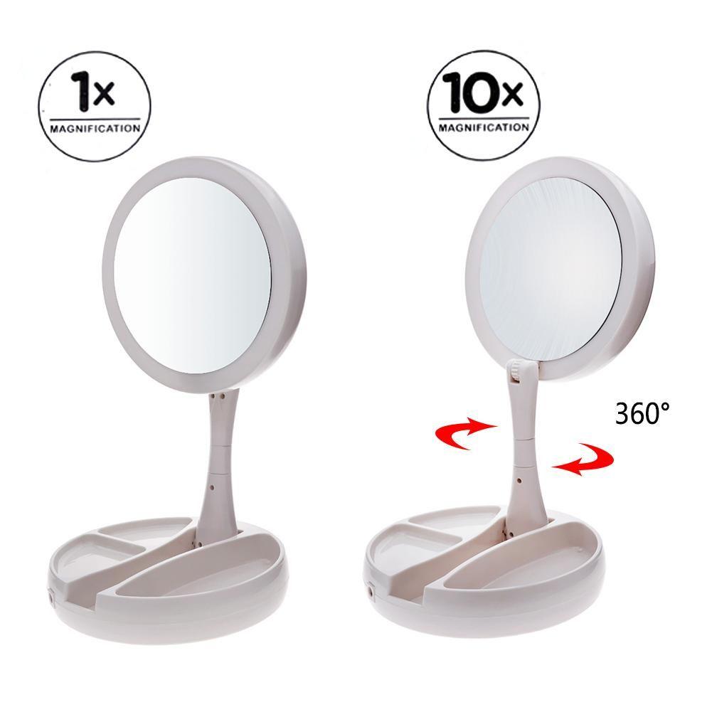 Espelho Maquiagem Led Articulavel 2 Lados Ampliacao Camarim (888489)