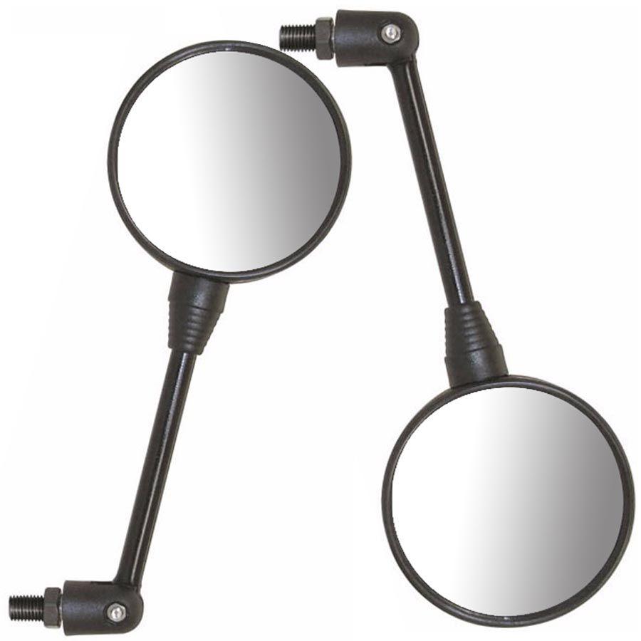 Espelho Par Retrovisor Micro Redondo 90 Graus Articulado Universal Moto Honda (24938)