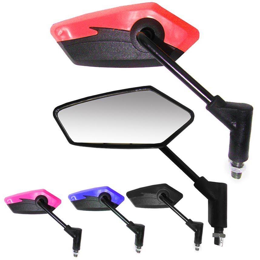 Espelho Retrovisor Par Cores Silver Moto Serve Em Todas Honda Motoqueiro  (3185/3181/3191/3193)