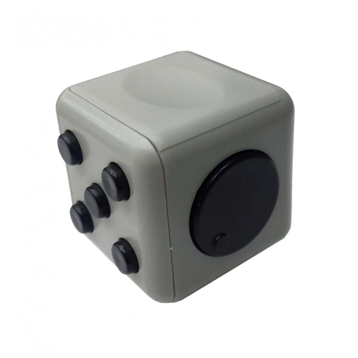 Fidget Cubo Para Relaxar Cube Anti Estresse Brinquedo Dedo Apertar Para Toc Cinza (BSL-GIRA-3)