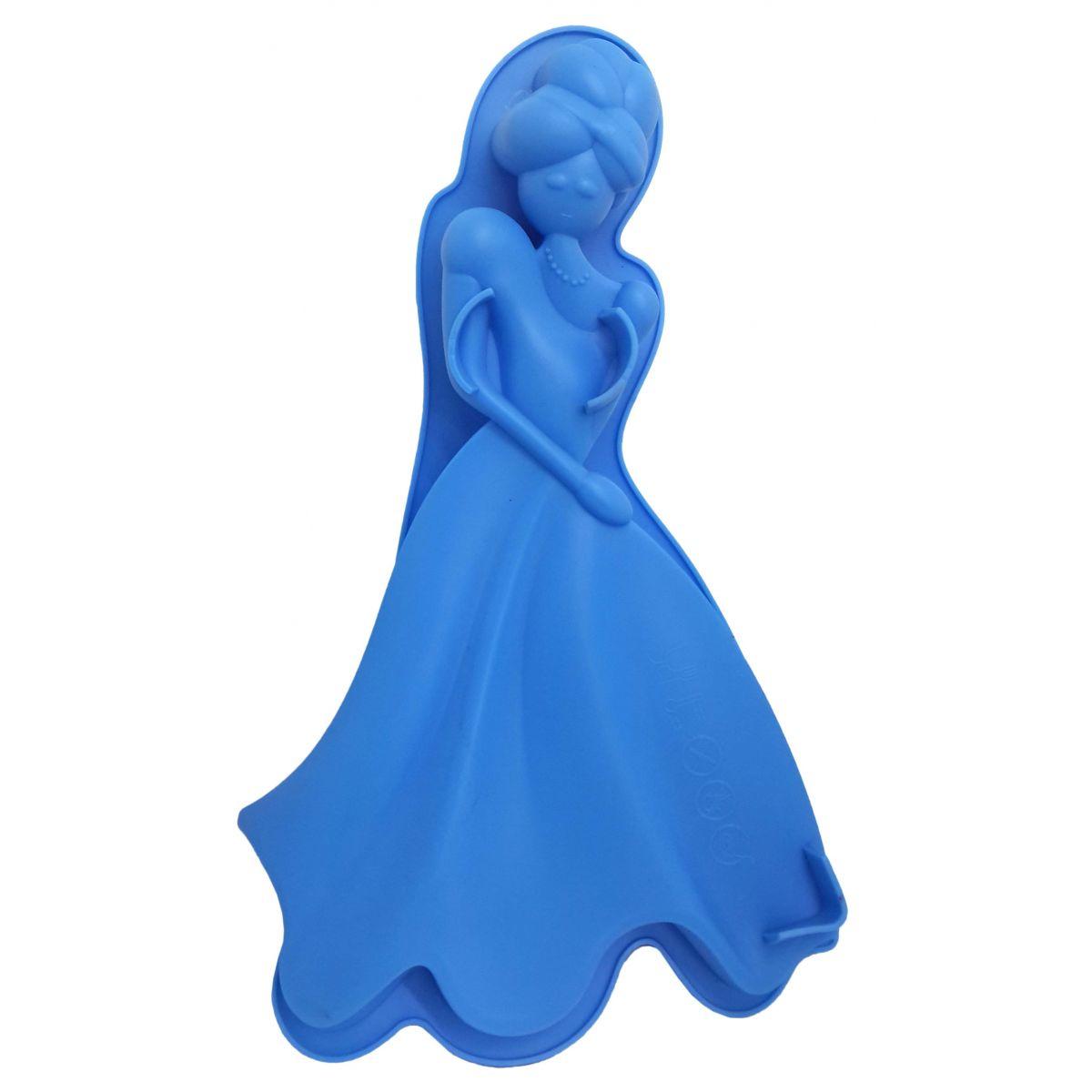 3 Forma de Silicone Para Doces Torta Pudim Bolo Cozinha Princesa Azul (sili-9)