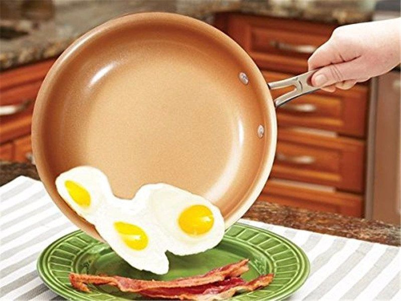 Frigideira Antiaderente Cobre Revestimento Ceramico 25 Cm Cozinha Culinaria (MC40926)