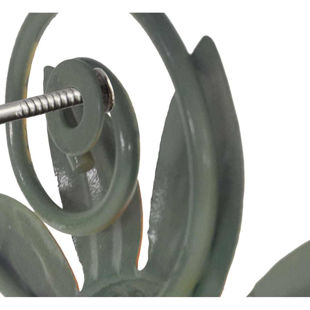 Gancho de Ferro Triplo Flores Para Chapeu Bolsa Bone Enfeite Pendura Sortido Kit Com 2