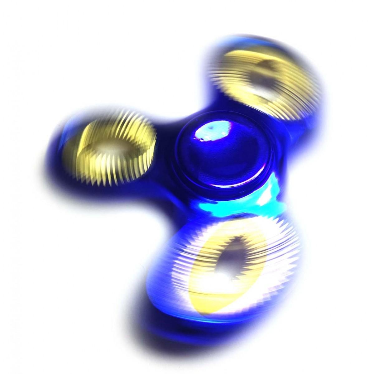 Hand Spinner Fidget de Metal Ansiedade Anti Estresse Giro Dourado Azul (bsl-gira-1-metal)