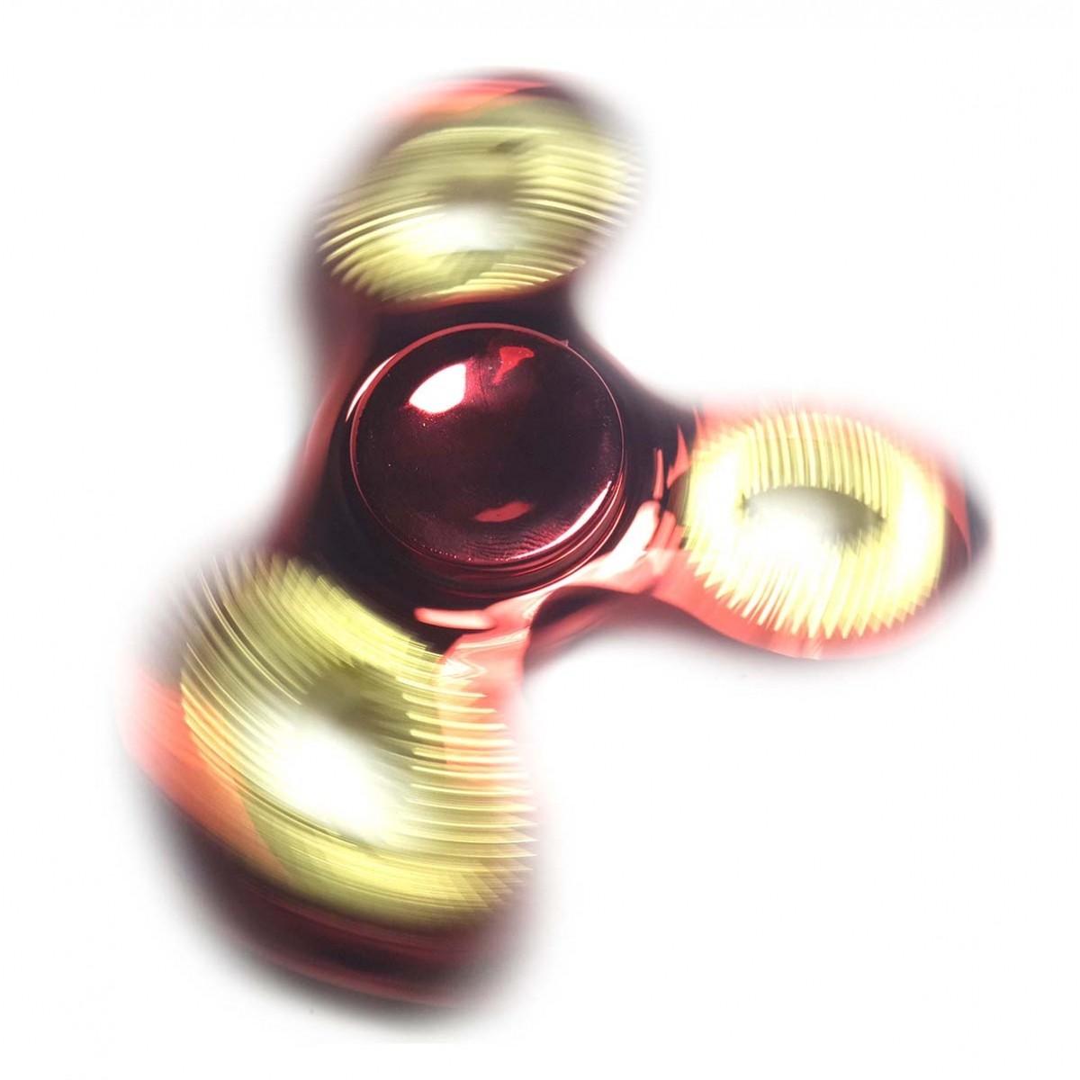 Hand Spinner Fidget de Metal Ansiedade Anti Estresse Giro Cromado Vermelho (bsl-gira-1-metal)