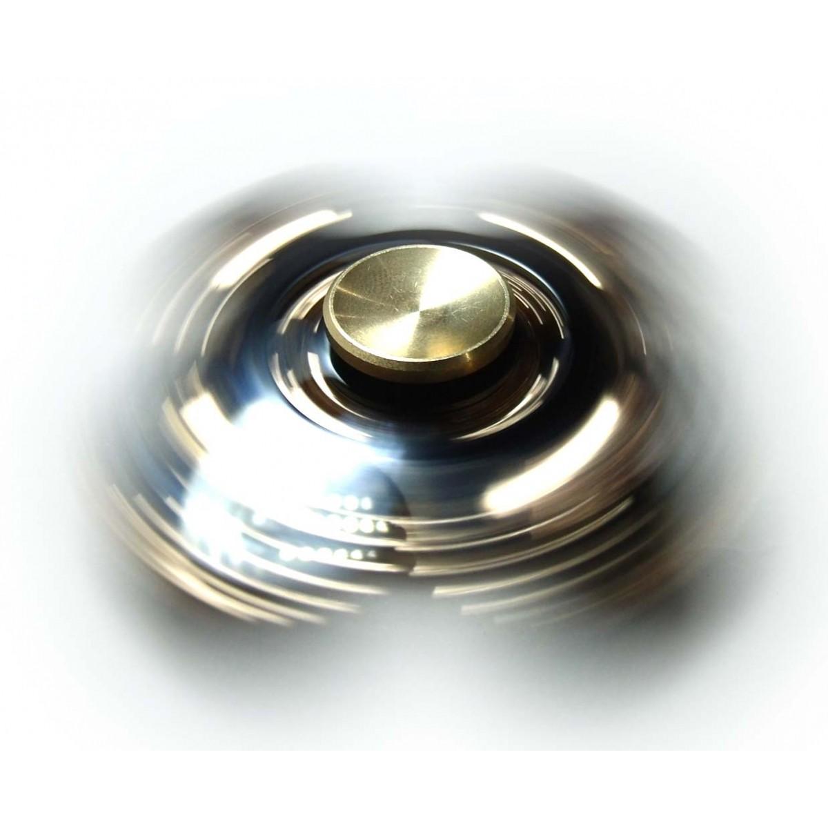 Hand Spinner Fidget De Metal Com Engrenagem Ansiedade Estresse Brinquedo Cor Preta