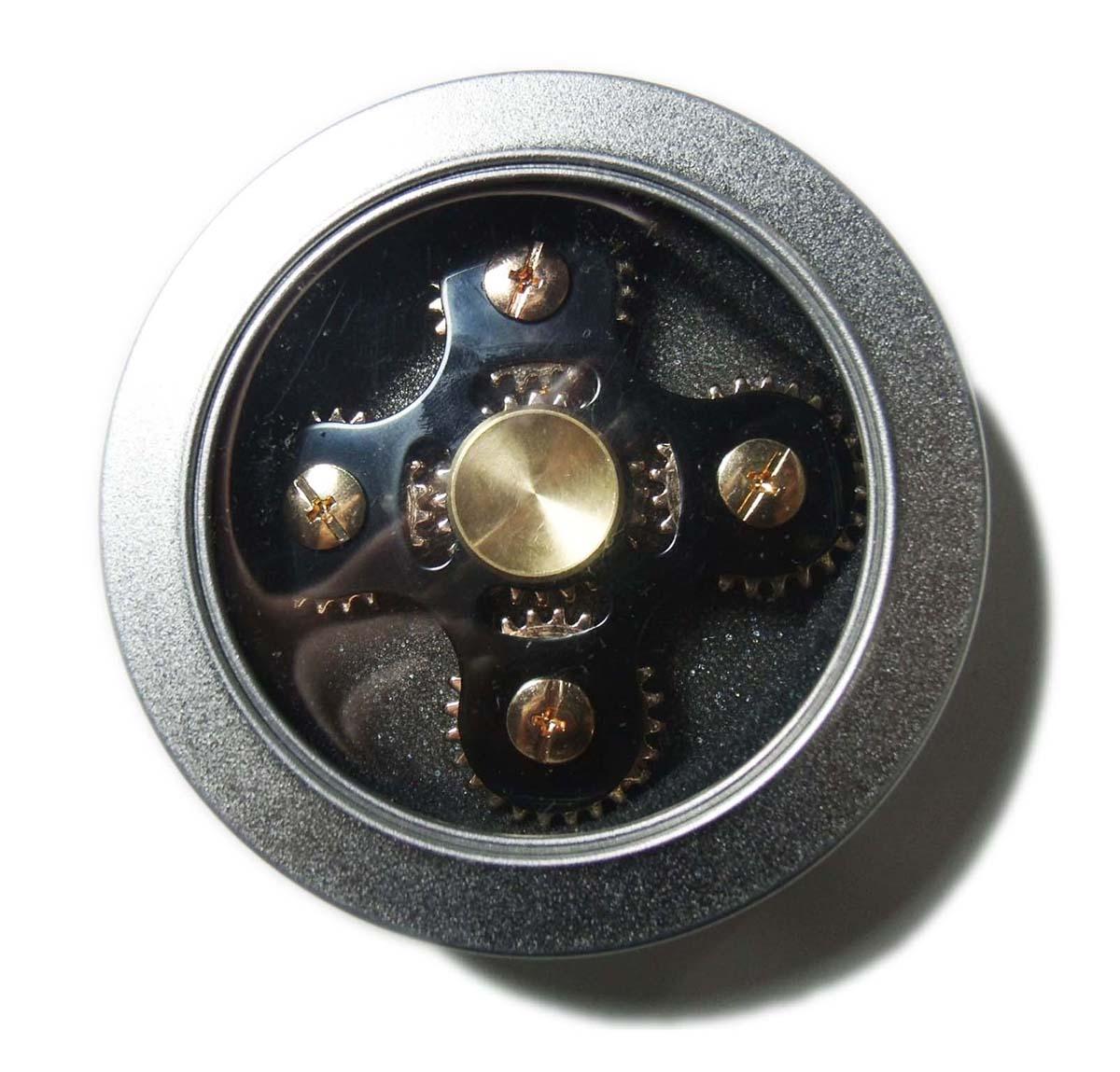 Hand Spinner Fidget De Metal Com Engrenagem Anti Estresse Mania Brinquedo  Preto