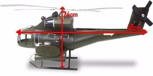 Helicoptero Exercito Vintage De Ferro Fundido Retro (CJ-019)