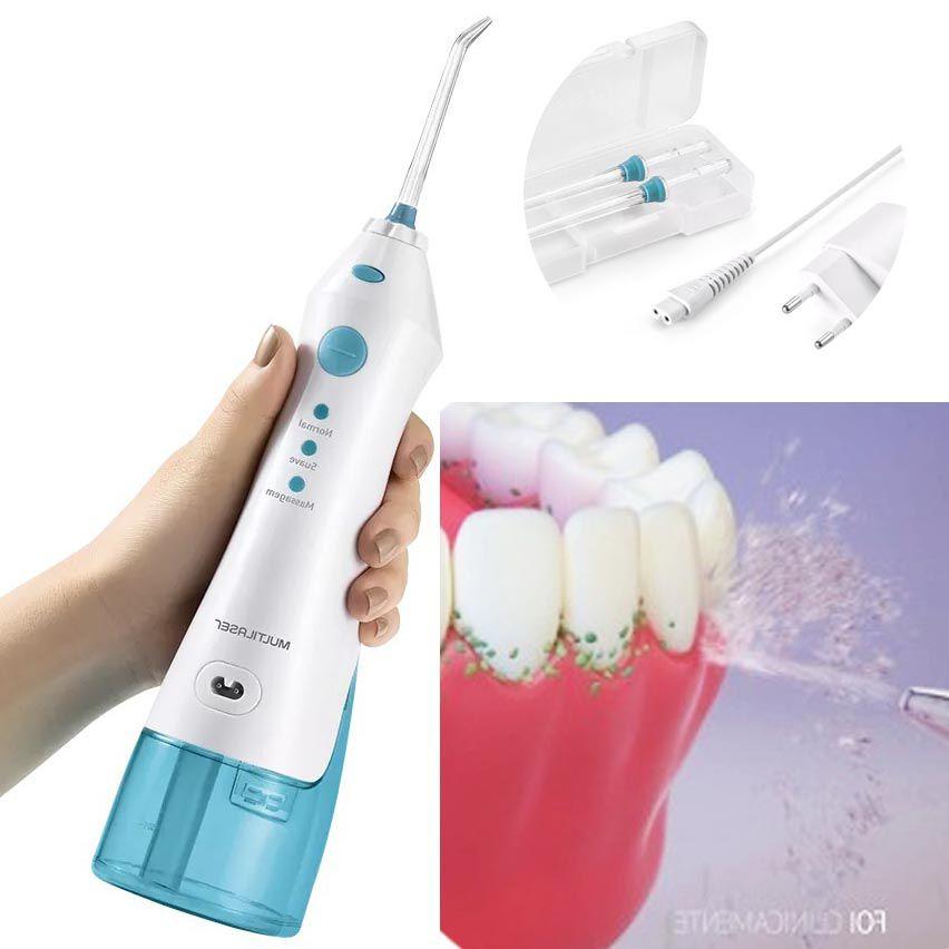 Irrigador Portatil Limpa Dente Recarregavel Oral Bucal 2 Bicos 360 Bivolt Eletrico (HC036)