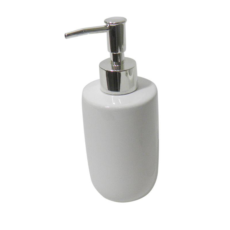 Jogo Para Banheiro Porcelana 3 Peças Saboneteira Liquido Copo Sabonete