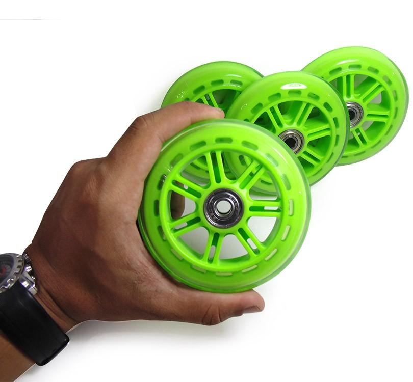 Kit 4 Unid Roda de Patins Silicone Rodinhas Patinete Abec 7 Verde (RA-C)