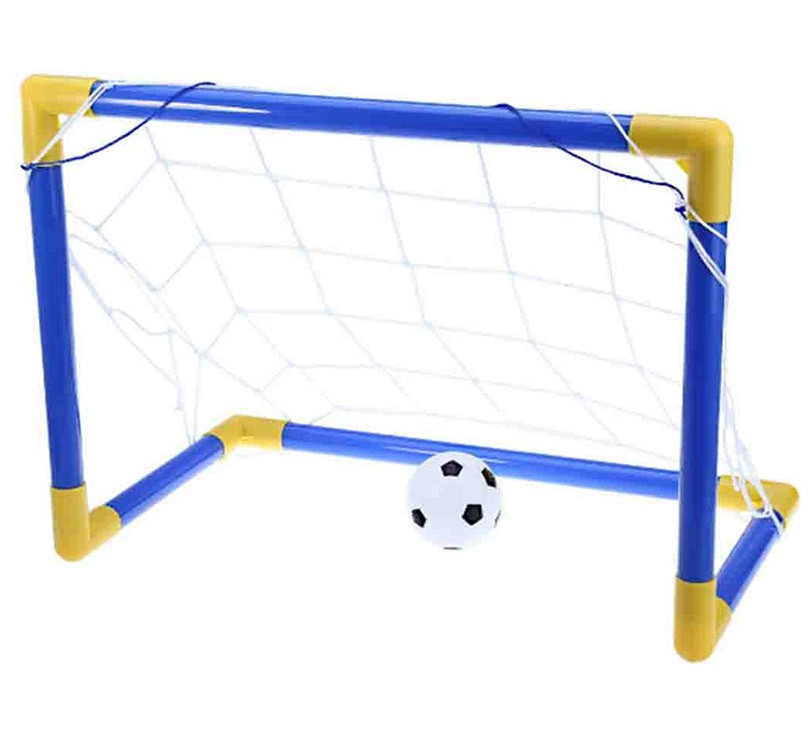 Kit Golzinho Mini Trave Infantil Bola de Futebol e Rede (DMT5076)