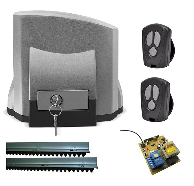 Kit Motor Portao Eletrico Deslizante Automatizador 127v 220v 500KG Automatico (Solo Ch 1/4)