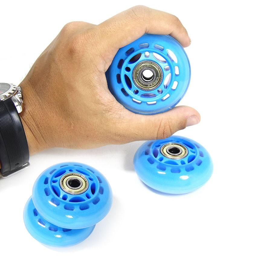 Kit Roda de Patins Rodinha Abec 7 Pequena 4 Uni Azul (RA-A)