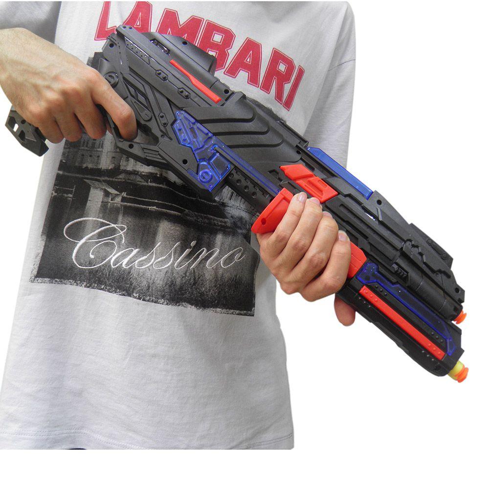Lançador Dardos Arma de Brinquedo Luz Som Criança Aventura