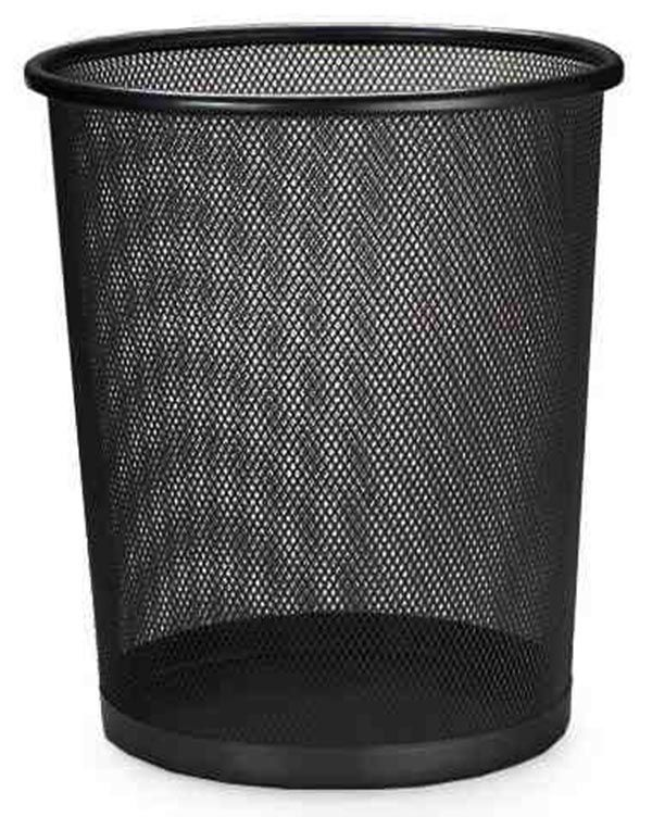 Lixeira Telada Kit Com 3 Unid Cesta De Lixo Metal Escritorio Preta (bsl-34008-1)