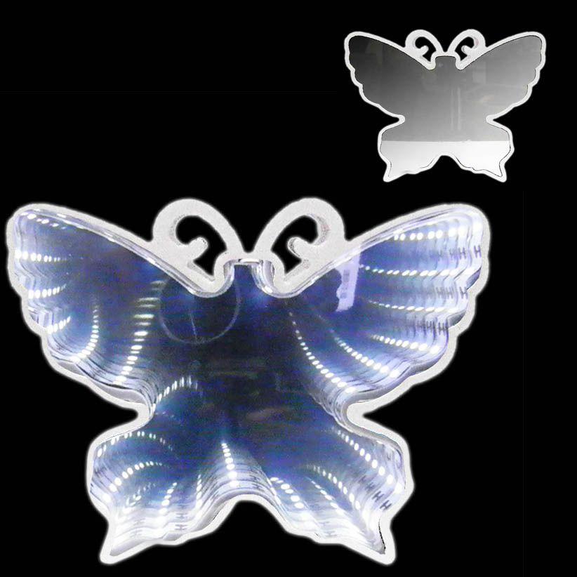 Luminaria Espelho 3D Infinito Led Borboleta Profundidade Luz Quarto (QZ3802)