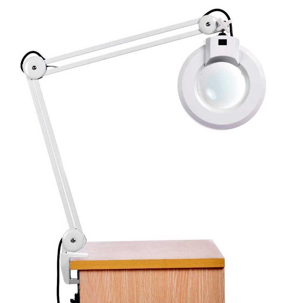 Lupa Estetica Luminária Led de Mesa Articulável Giratório Vidro Óptico 220v (BSL-LUPA-2)