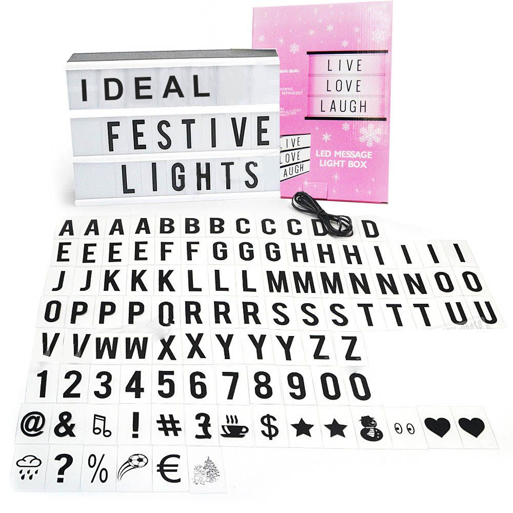 Luminaria Quadro Letreiro Led Painel 90 Letras Numeros (QZ6223-22)