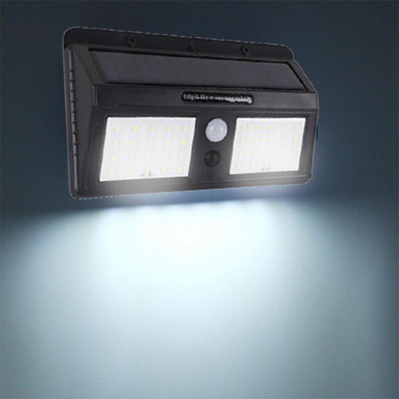 Luminaria Solar Refletor 40 Leds Sensor Noite Corredores Jardim (BSL1946 / ZEM-31597-A)