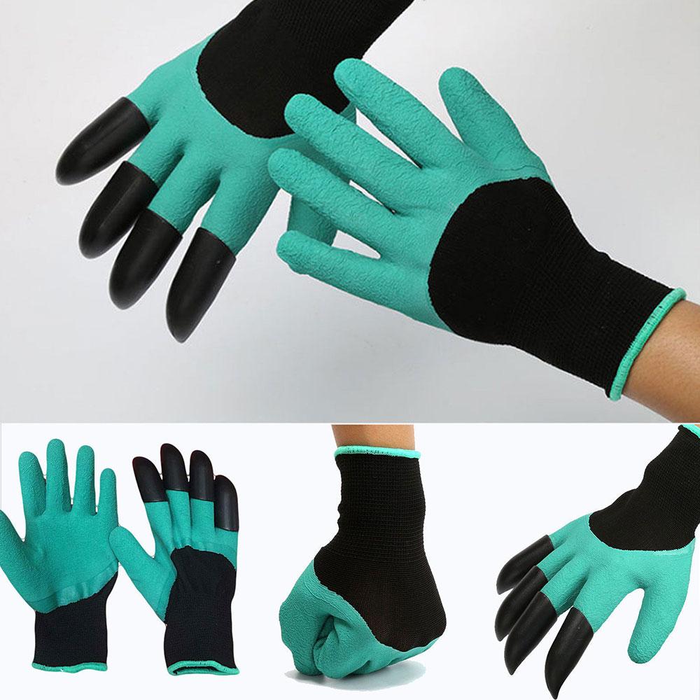 Luva de Jardinagem Com Garras Protege Cava Planta Garden Genie Gloves (888164)