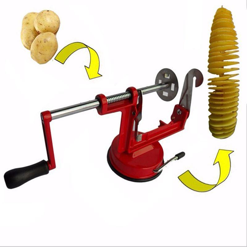 Maquina Fatiador Cortador Batata Espiral Chips Frutas Legumes
