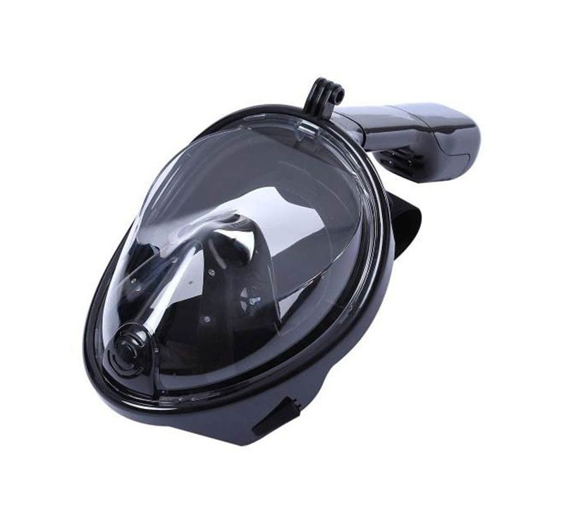 Mascara de Mergulho Snorkel Full Face Suporte Gopro Anti Embaçado G/GG Preto