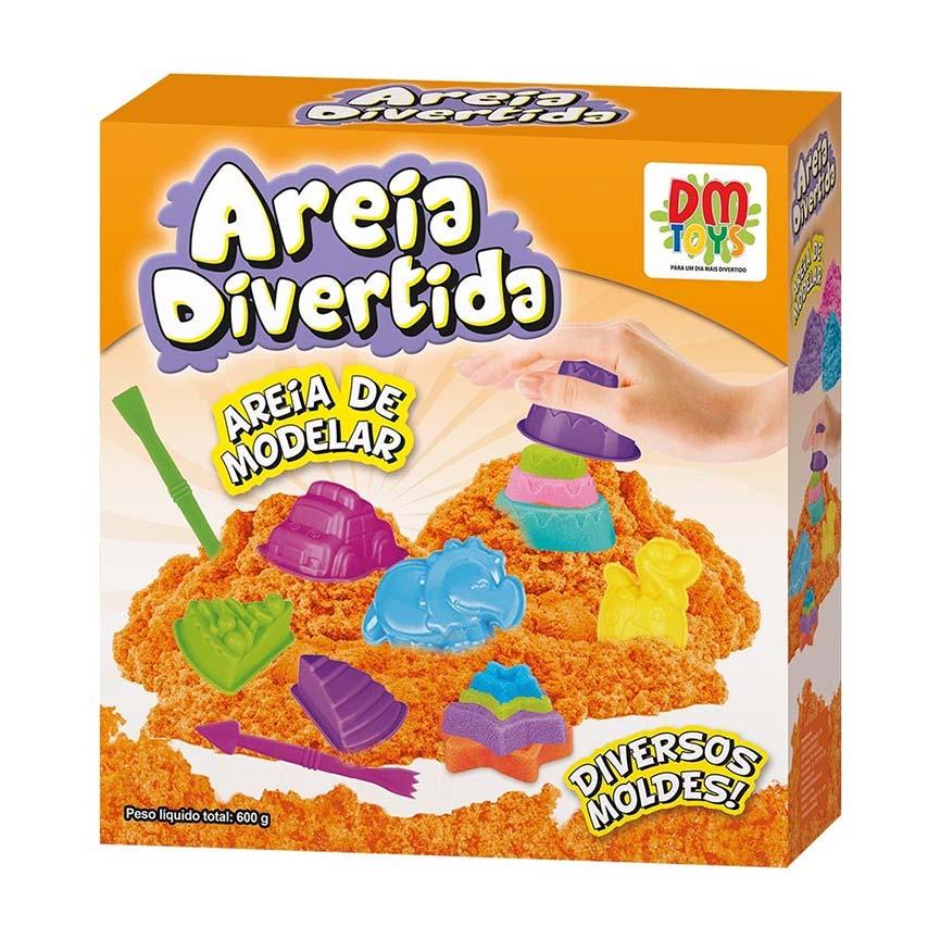 Massinha Areia de Modelar Divertida 600g Bolos 18 Forminhas Coloridos (DMT5126)