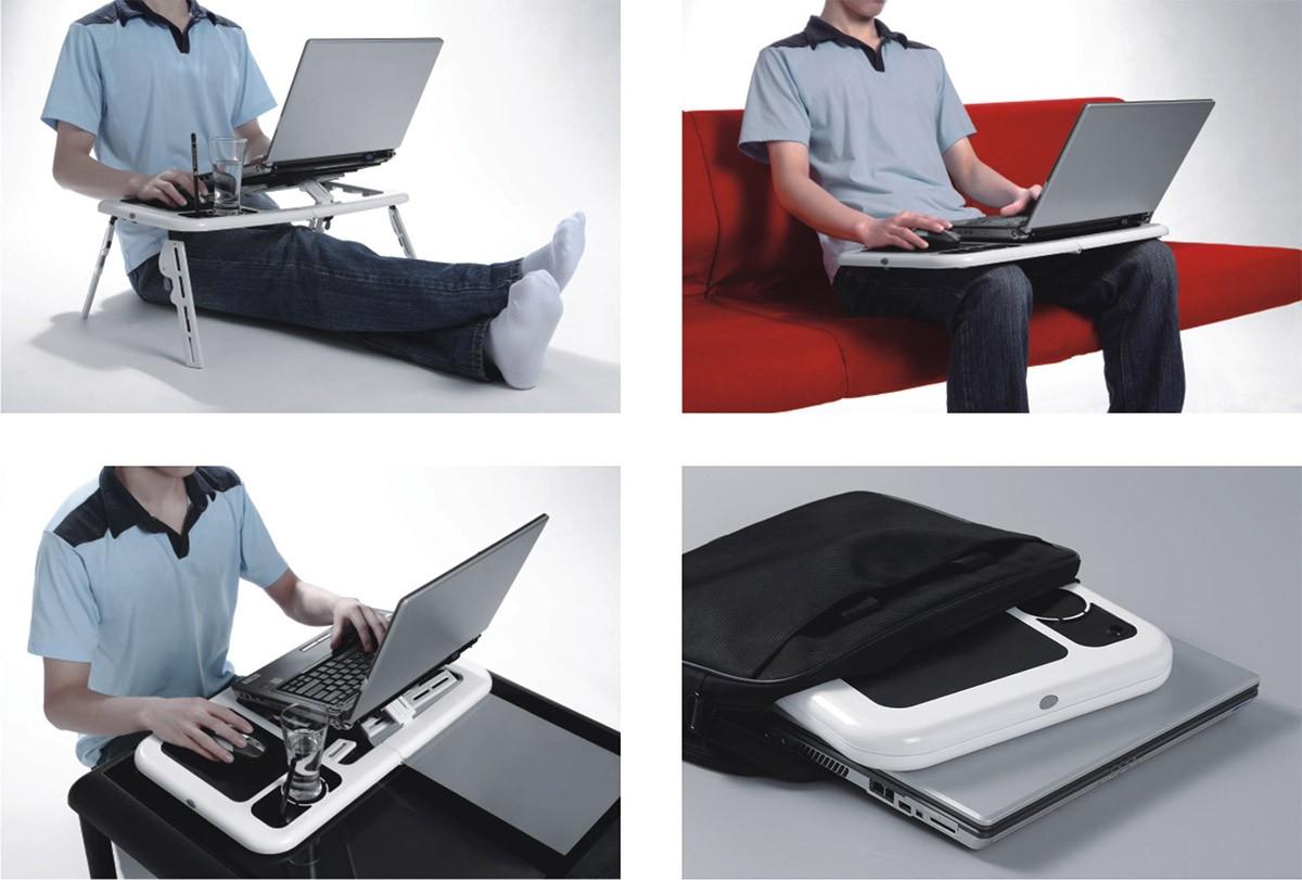 Mesa Para Notebook e Netbook Portatil 2 Cooler Retratil  (mc40228)