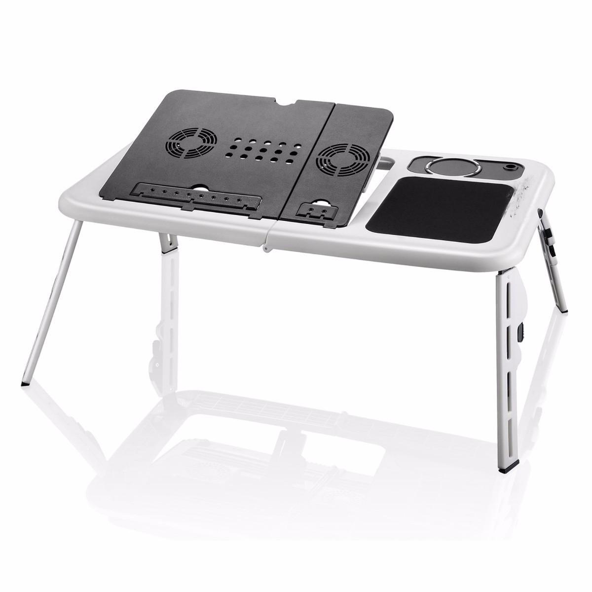 Mesa Portatil Para Netbook e Notebook Com 2 Cooler Retratil Branca (mc40228)