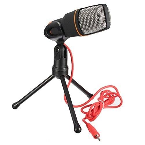 Microfone Condensador Omnidirecional Gravaçao Profissional Tripe Notebook Musica Audio Som Podcast Youtuber Video