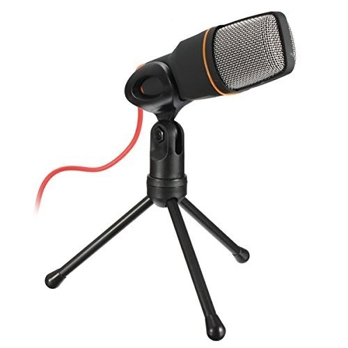Microfone Condensador Gravaçao Profissional Tripe Notebook Audio Musica Youtuber Podcast Omnidirecional