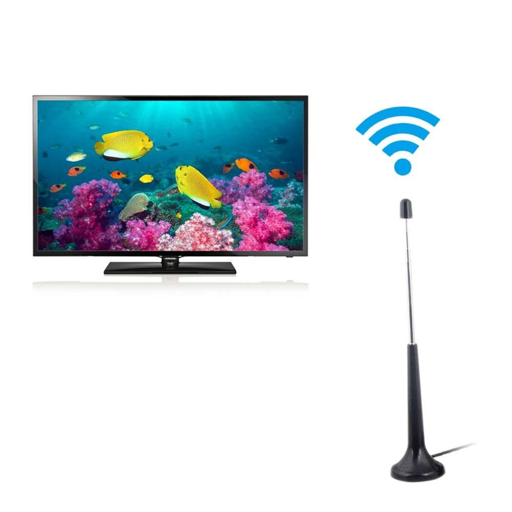 Mini Antena Tv Digital Hdtv Uhf Dtv Interna e Externa Portatil Cabo 2m (dta206)