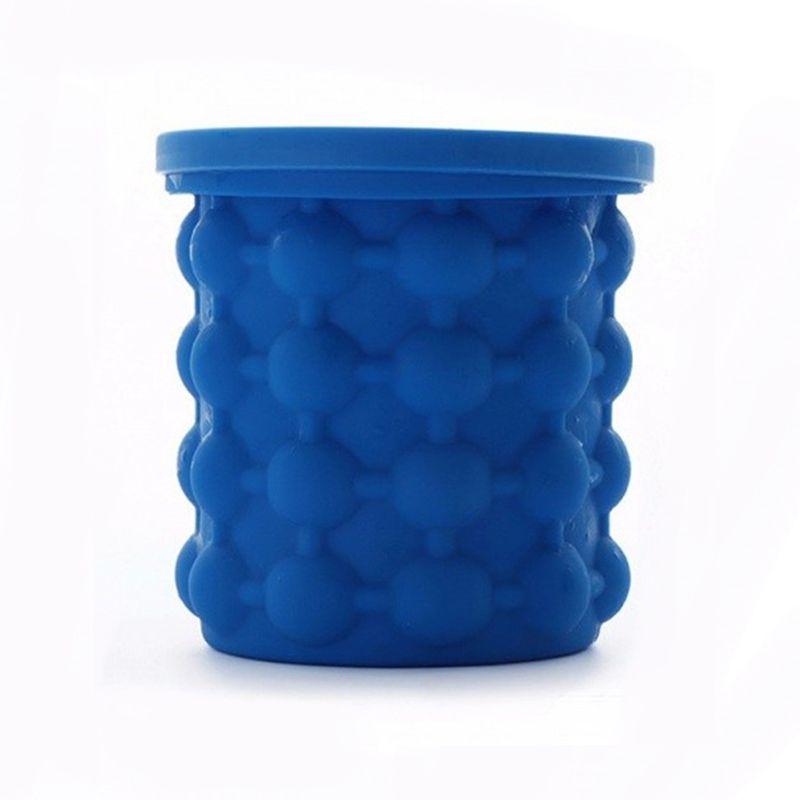 Mini Balde Forma Gelo Silicone Cozinha Portatil Cubo Ice Genie