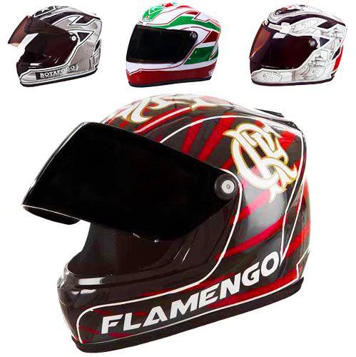 Mini Capacete Moto Enfeite e Decoracao Mesa Times Futebol (Mini Helmet)