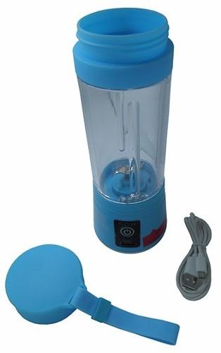 Mini Liquidificador Bateria Recarregavel Portatil Eletronico Azul