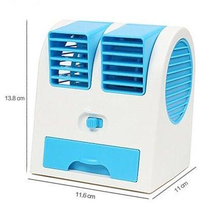 Mini Ventilador USB Portátil com Aroma Climatizador Com Agua AZUL (HB-168 AZUL)