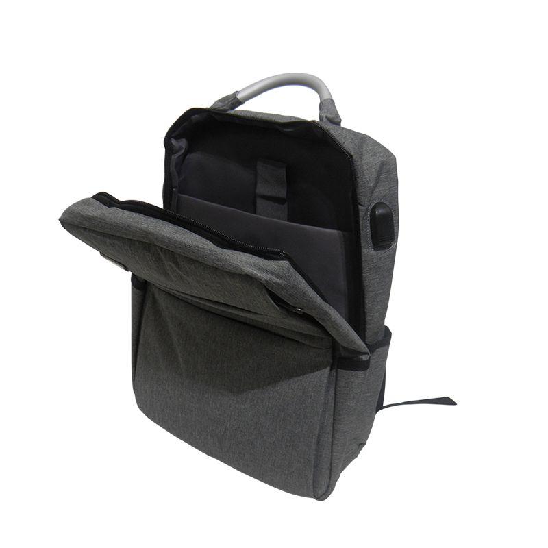 Mochila Notebook USB Masc Fem Ajustavel Anti-Roubo Furto