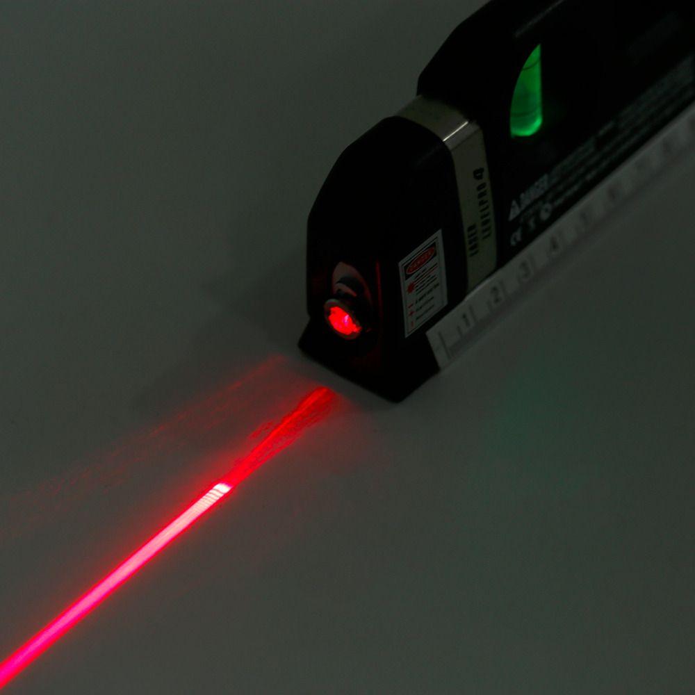 Trena Nivel a Laser Profissional 2.5m Medidor Nivelador Prateleira Painel Parede