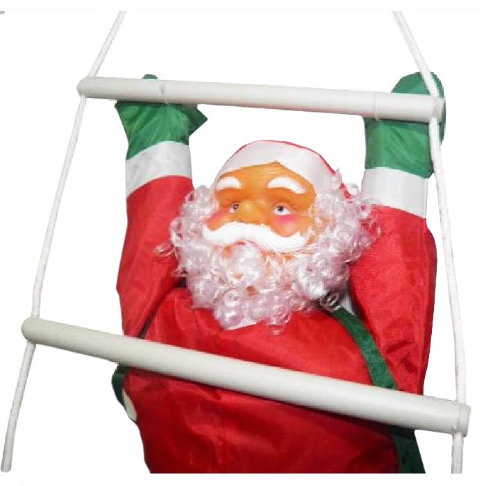 Papai Noel Escalador Natal Decoracao Grande 1,23 metro Escada Enfeite Natalino (BSL-36041-13)